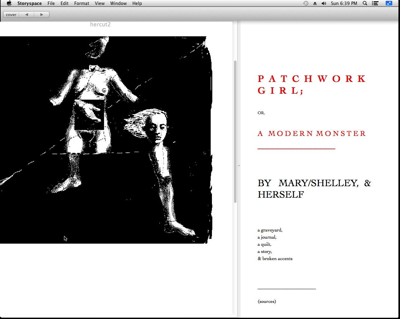 Patchwork Girl (1995) by Shelley Jackson
