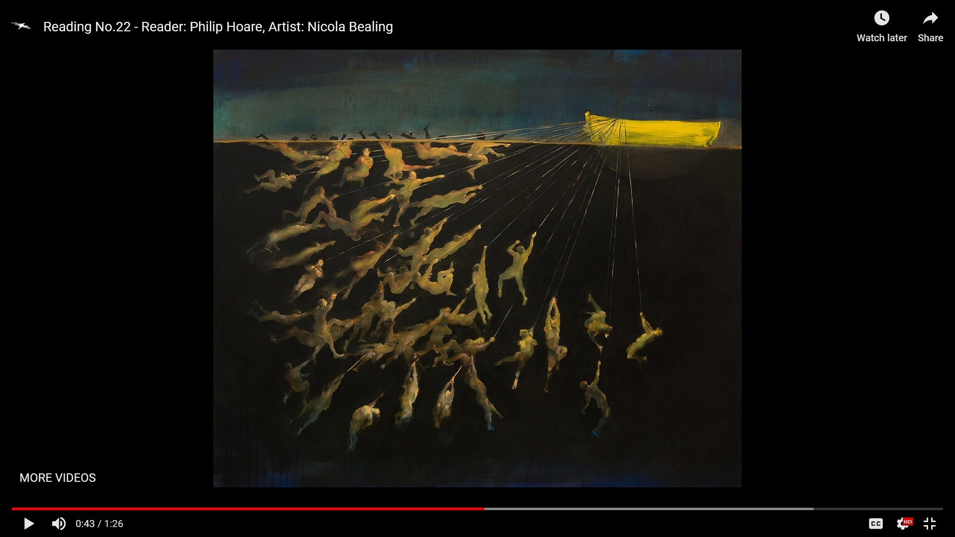 Screenshot of Reading No. 22, featuring art by Nicola Bealing