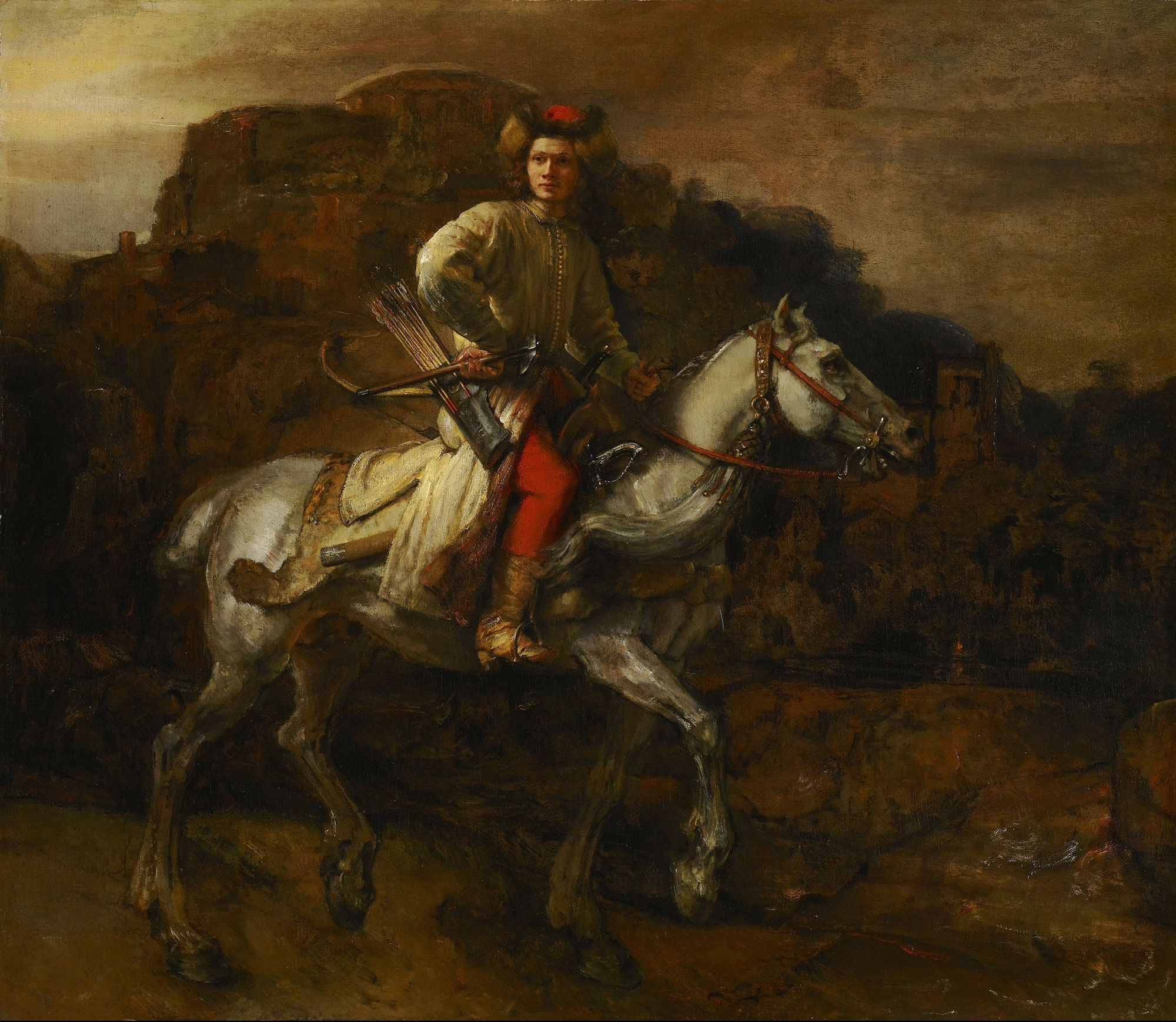 The Polish Rider, a painting attributed to Rembrandt
