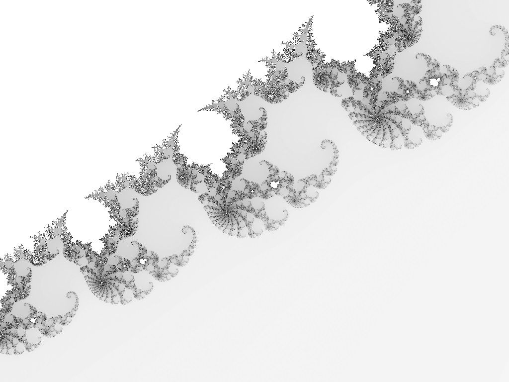 Mandelbrot set with 12, 13, and 14 times branching