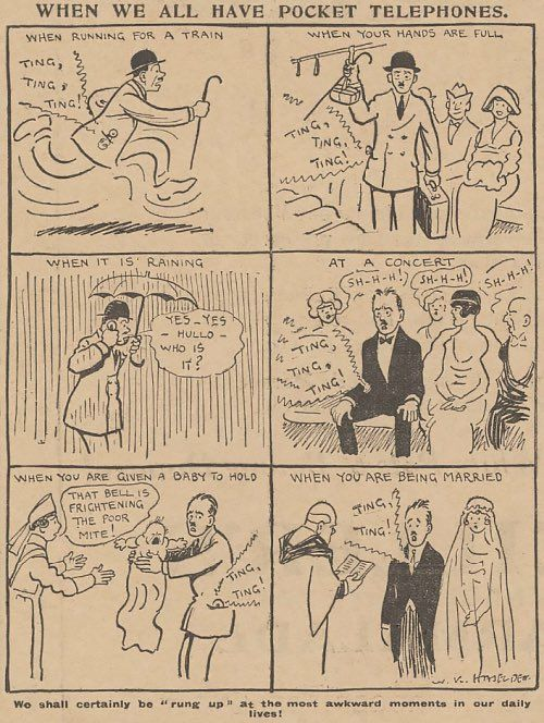 A cartoon from the Daily Mirror, March 5th, 1919.